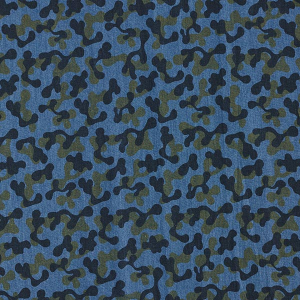Chambray Camouflage – jeansblau/khaki