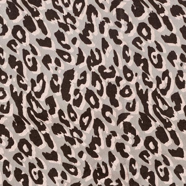 Nicki Stoff Leo-Print – hellgrau/rosa