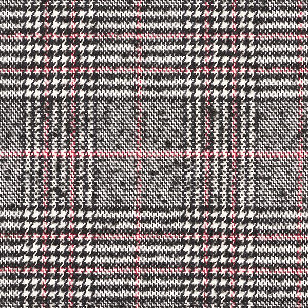 Tissu pour manteau Mélange de laine Prince-de-Galles – noir/rouge