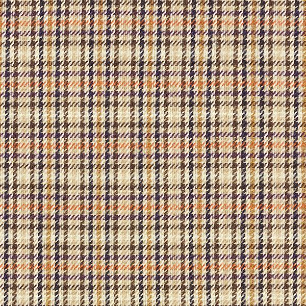 Tissus pour costumes et tailleurs Mélange de laine Motif carreaux – beige/marron