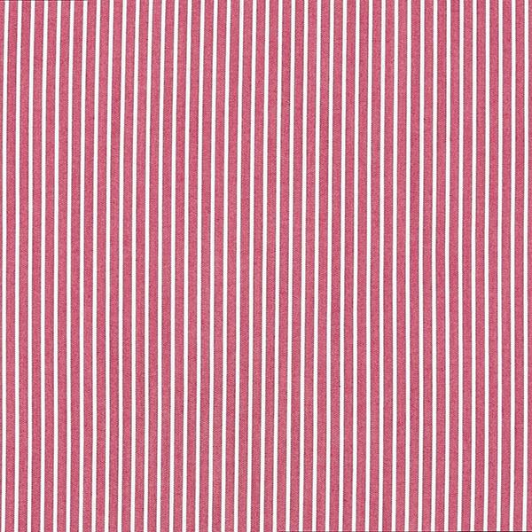 Hemdenstoff Klassische Streifen – rot/weiss
