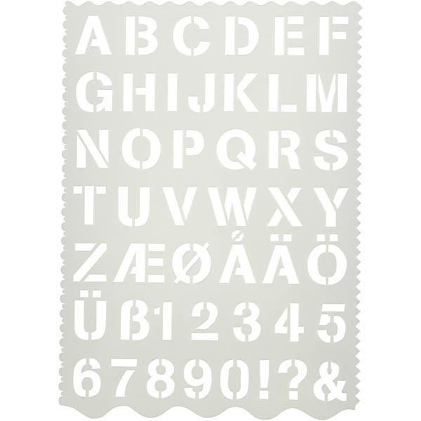 Pochoir lettres [Dimensions: 21cm x 29cm]