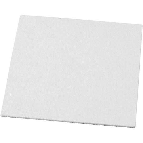 Carton entoilé [Dimensions: 15cm x 15cm] – blanc