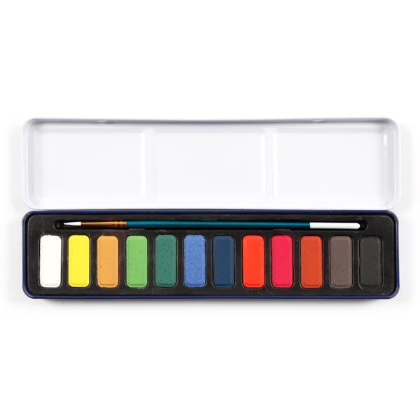 Set de couleurs aquarelles [ 12 Pièces ]