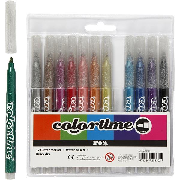 Colortime Glitter Marker [12Stück ]
