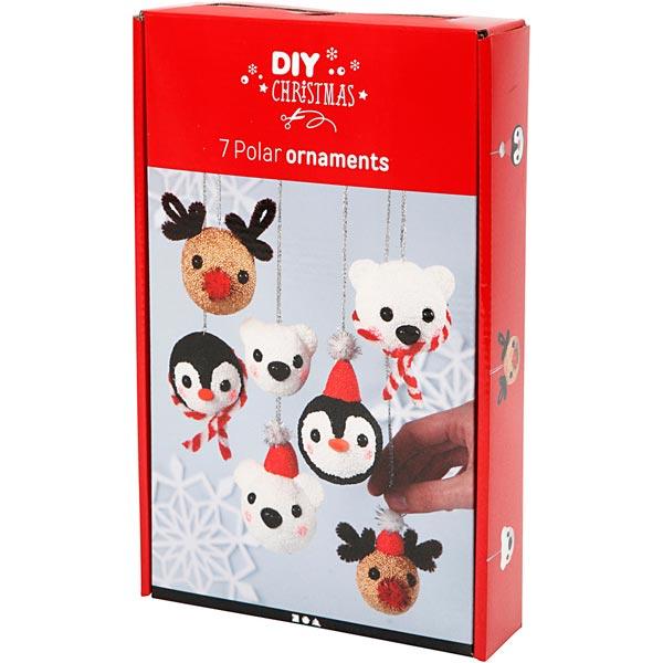 DIY-Set Weihnachtskugeln Polartiere