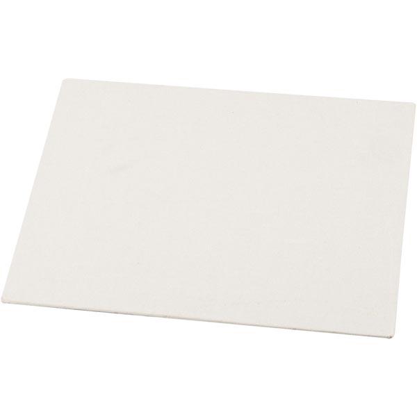 Toile de carton entoilé [Dimensions: 12,4cm x 12,4cm] – blanc