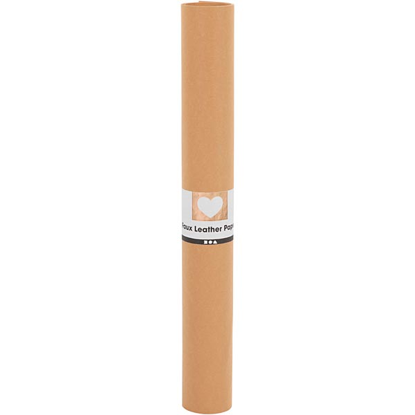 Papier en similicuir [ 100 x 50 cm ] – marron clair