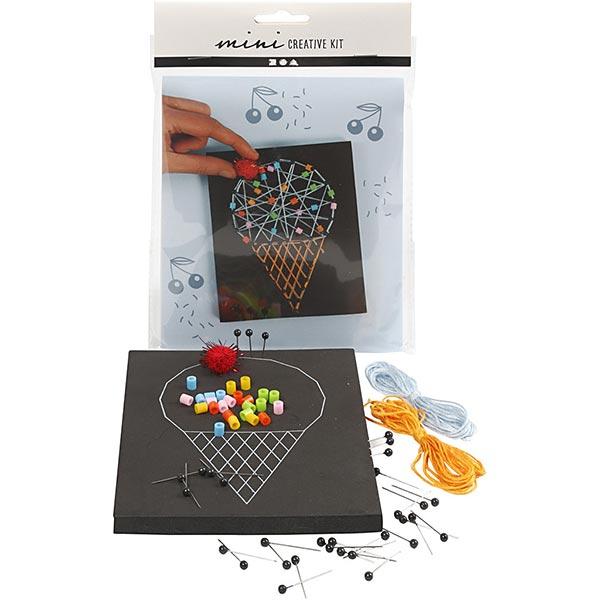 Mini Kreativ-Set String Art - Eiswaffel
