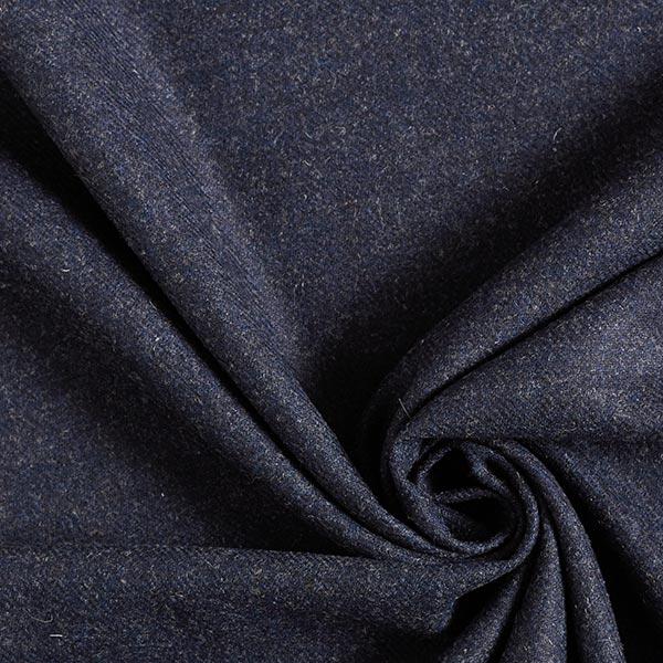 Tissu pour pantalon et costume Mélange laine vierge Chiné – navy