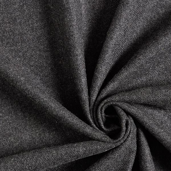Hosen- & Anzugstoff Schurwoll-Mix Melange – anthrazit