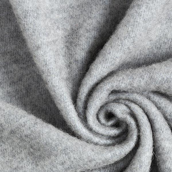 Tissu pour manteau Mélange laine vierge Super tricot en laine – gris