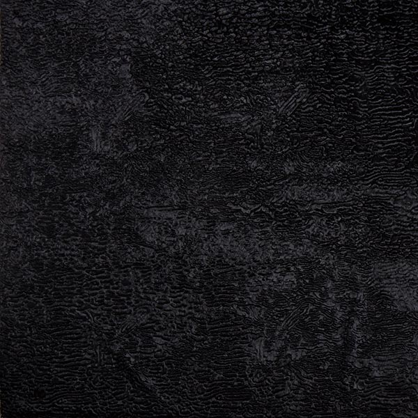 Kunstfell Krimmeroptik Wellen – schwarz
