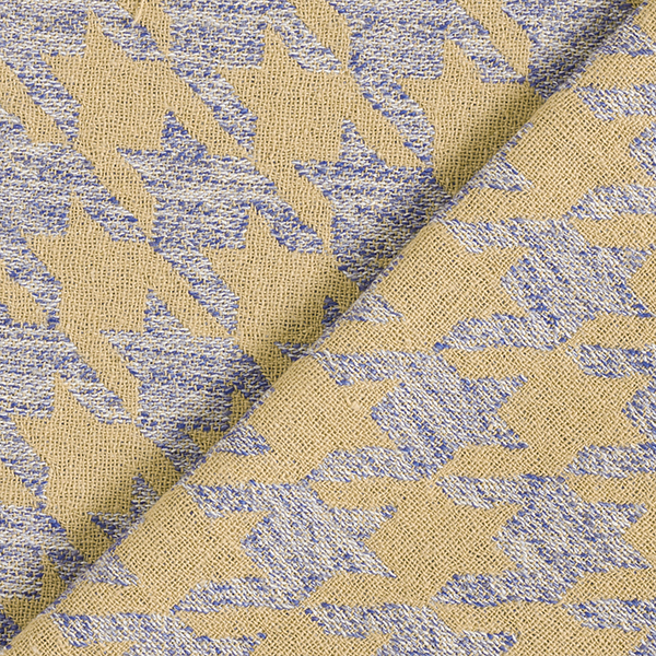Double tissage grand pied-de-poule – beige/bleu acier