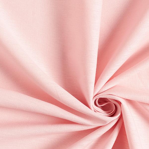 Mélange lin coton uni – rose