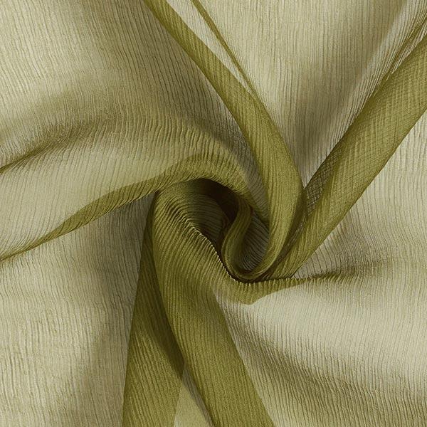 Crêpe de soie très vaporeux uni – olive clair