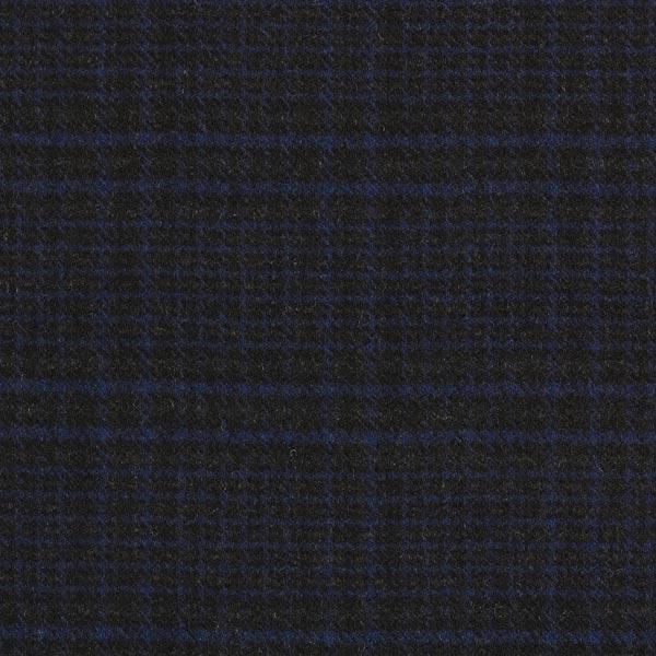Tissu pour manteau Mélange de laine Carreaux foncés – navy/noir