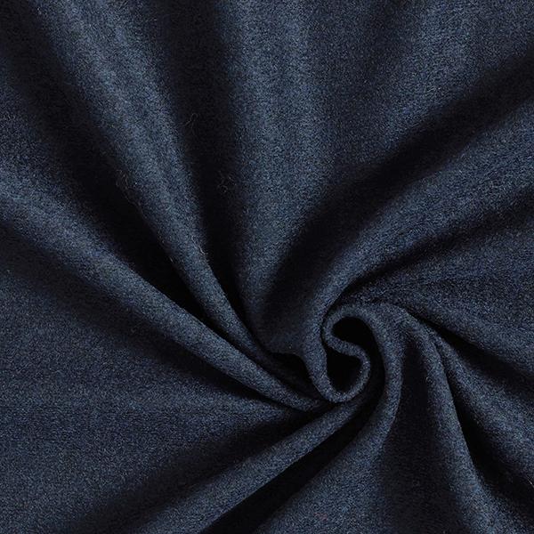 Tricot manteau léger Mélange de laine uni – navy