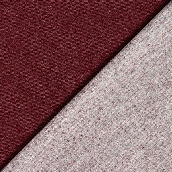Piqué en maille léger Mélange de laine Double face – rouge bordeaux/gris clair
