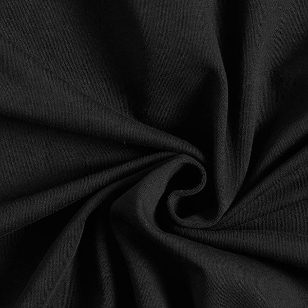 Jersey interlock uni GOTS – noir