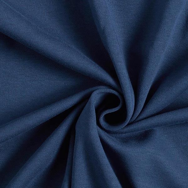 Jersey interlock uni GOTS – bleu marine