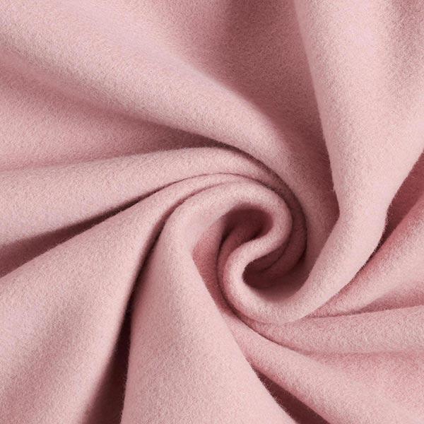 Polaire coton uni GOTS – vieux rose