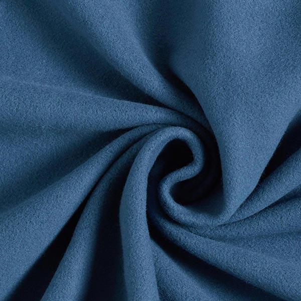 Polaire coton uni GOTS – bleu jean