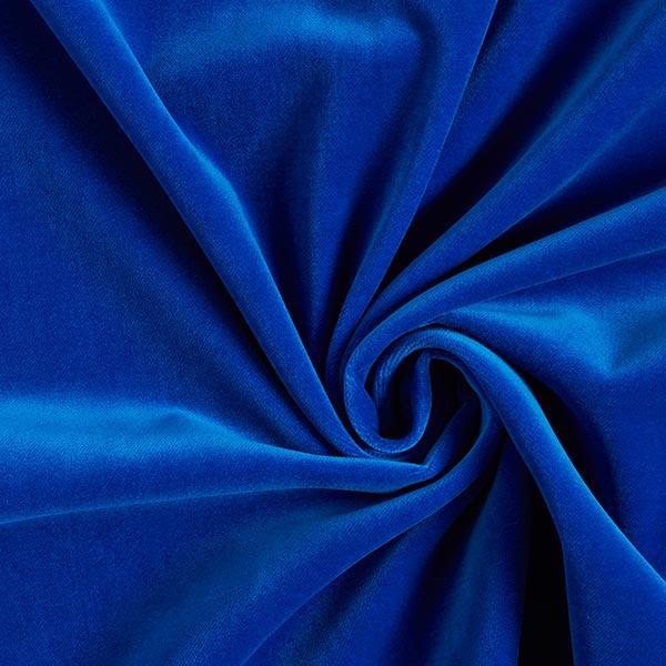 Velours de coton uni – bleu roi