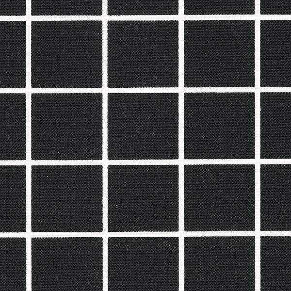 Dekostoff Canvas Karo – schwarz/weiss