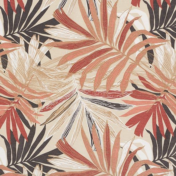 Dekostoff Canvas Dschungelblätter 280cm – sand/senf
