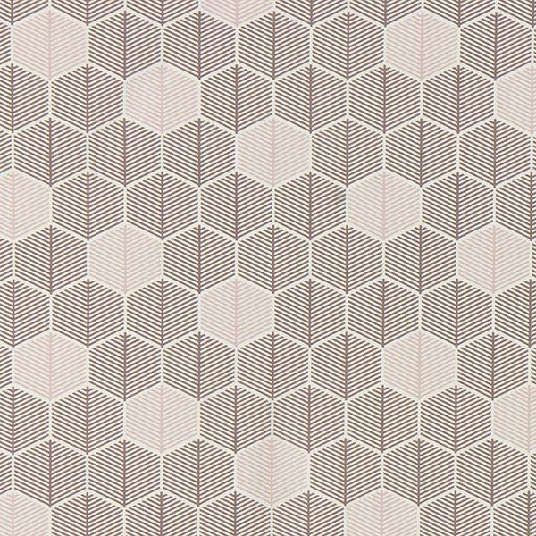 Dekostoff Canvas grafische Blätter – weiss/altrosa