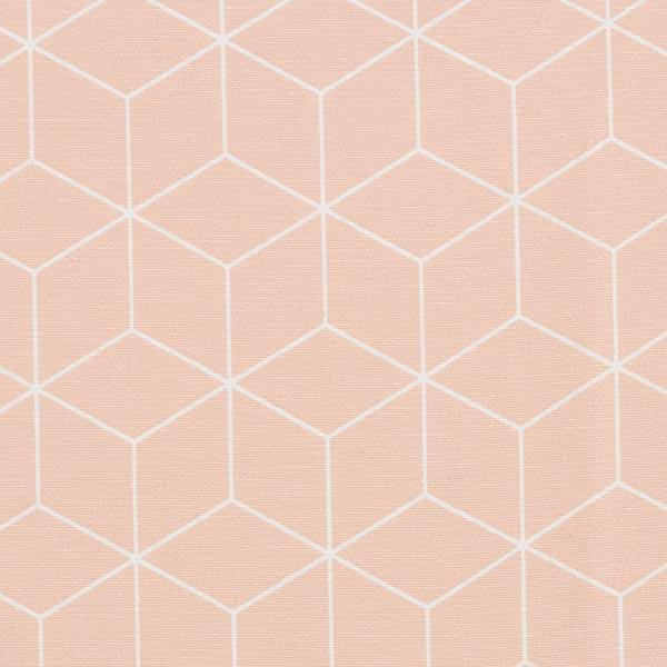Dekostoff Canvas grafische Sterne – apricot