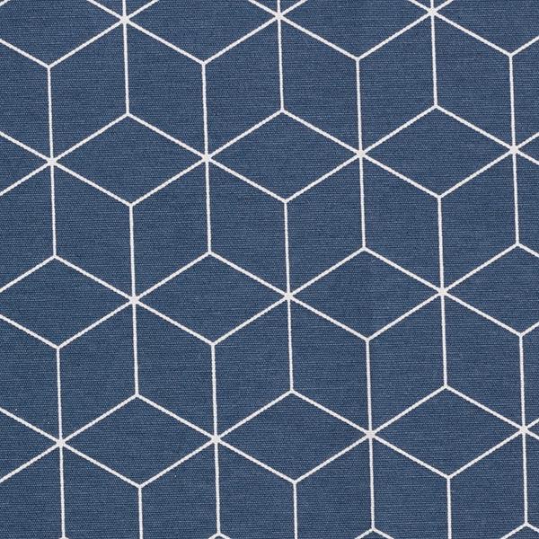 Dekostoff Canvas grafische Sterne – marineblau