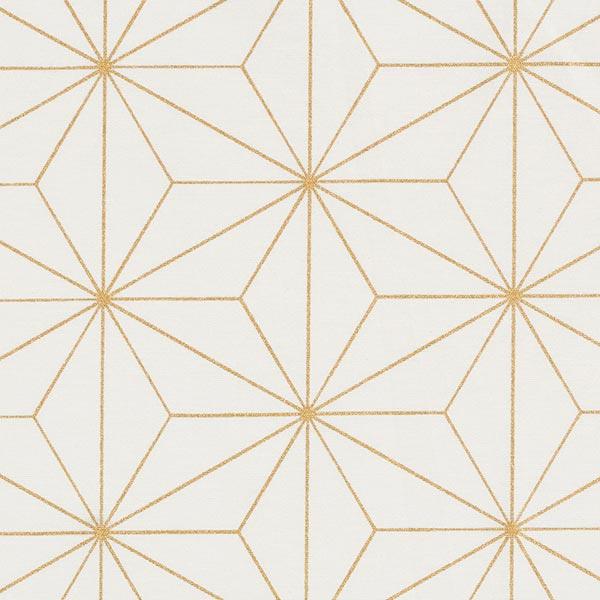 Dekostoff Canvas Artdecosterne – weiss/gold