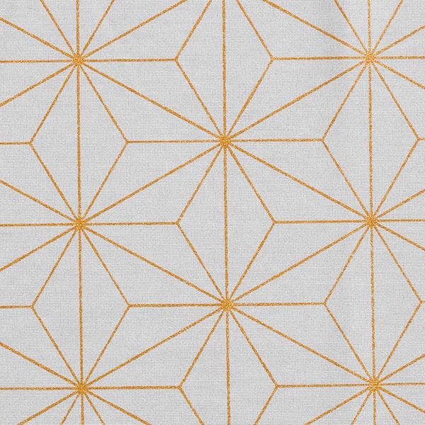 Dekostoff Canvas Artdecosterne – blaugrau/gold