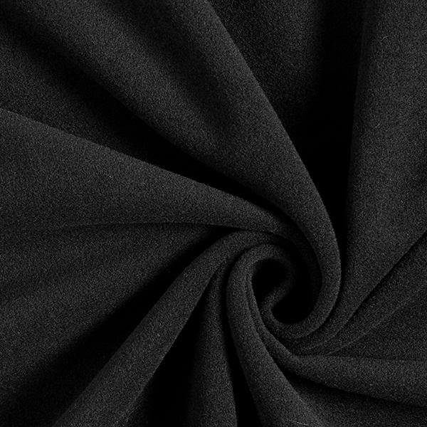 Mantelflausch mit recycleter Wolle – noir
