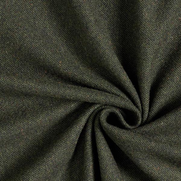 Blazerstof mit recycleter Wolle Diagonal – dunkeloliv/oliv