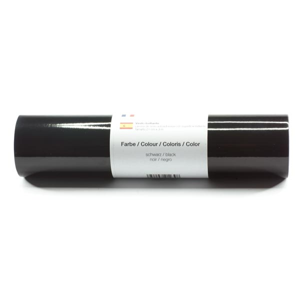 Selbstklebende Vinylfolie glänzend [21cm x 3m] – schwarz