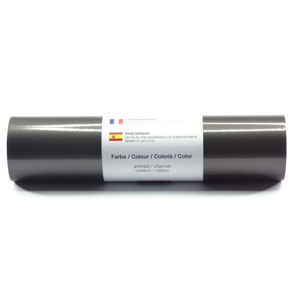 Selbstklebende Vinylfolie glänzend [21cm x 3m] – anthrazit