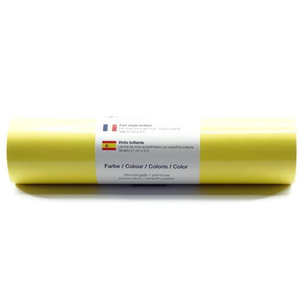 Selbstklebende Vinylfolie glänzend [21cm x 3m] – hellgelb