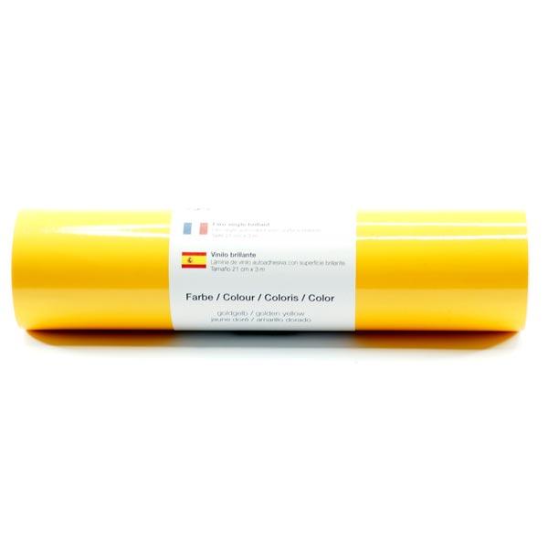 Film vinyle autoadhésif Brillant [21cm x 3m] – jaune soleil