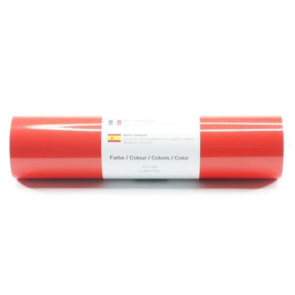 Film vinyle autoadhésif Brillant [21cm x 3m] – rouge