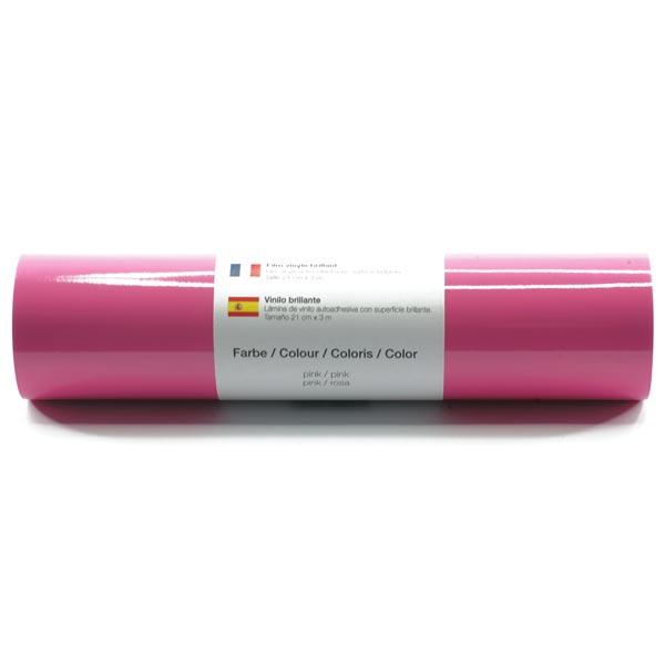 Film vinyle autoadhésif Brillant [21cm x 3m] – rose vif