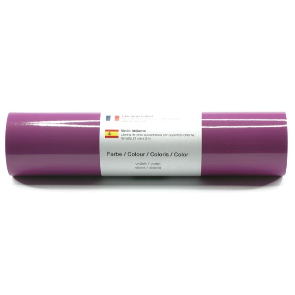 Selbstklebende Vinylfolie glänzend [21cm x 3m] – violett