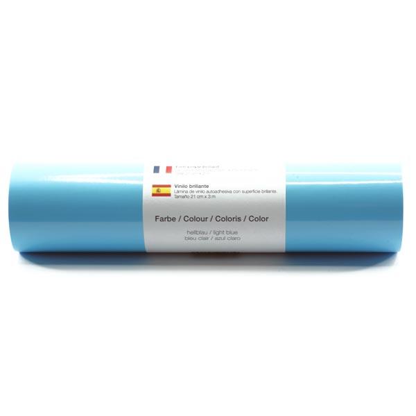Film vinyle autoadhésif Brillant [21cm x 3m] – bleu clair