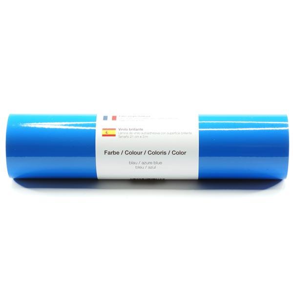 Selbstklebende Vinylfolie glänzend [21cm x 3m] – blau