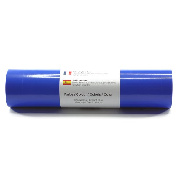 Film vinyle autoadhésif Brillant [21cm x 3m] – bleu roi