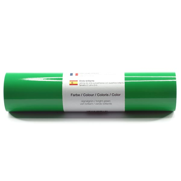 Film vinyle autoadhésif Brillant [21cm x 3m] – vert