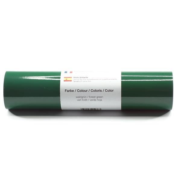 Selbstklebende Vinylfolie glänzend [21cm x 3m] – dunkelgrün