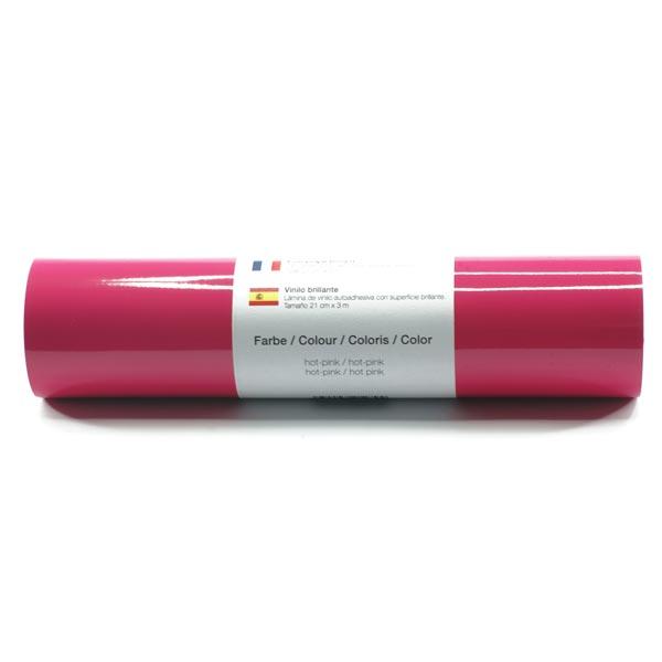 Film vinyle autoadhésif Brillant [21cm x 3m] – rose sexy